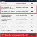 Arsenal vacancy