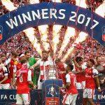 FAカップカップ 16-17 ファイナル v チェルシー ウェンブリースタジアム セレブレーション