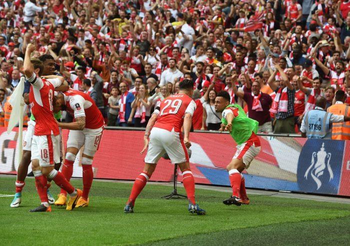 FAカップカップ 16-17 ファイナル v チェルシー ウェンブリースタジアム ラムジー ゴール