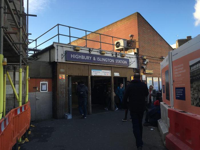ロンドン 駅 Highbury & Islington ハイバリー&イズリントン
