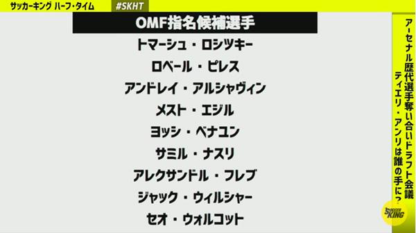 サッカーキング アーセナル ドラフト会議 08