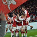 Europe League v アトレチコマドリー ラカゼット ゴール セレブレーション