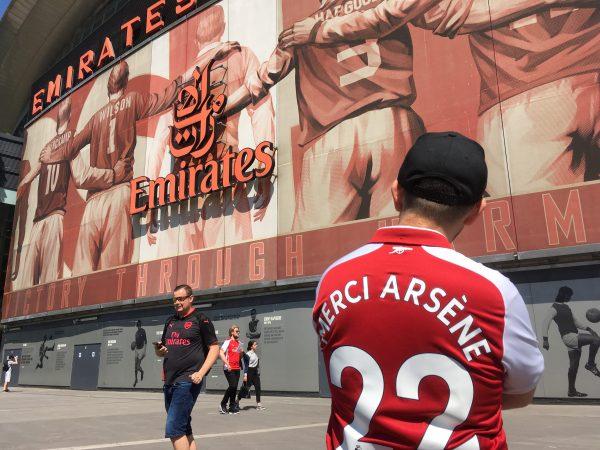 v バーンリー シャツ Merci Arsene エミレーツ・スタジアム Emirates Stadium