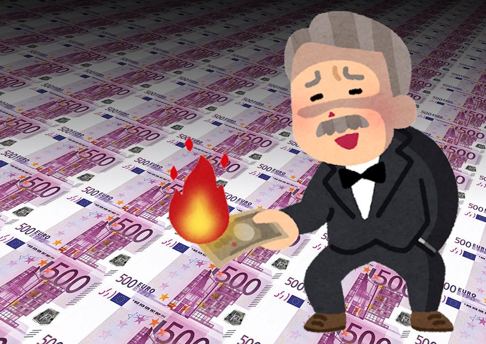 お金 ユーロ マネー