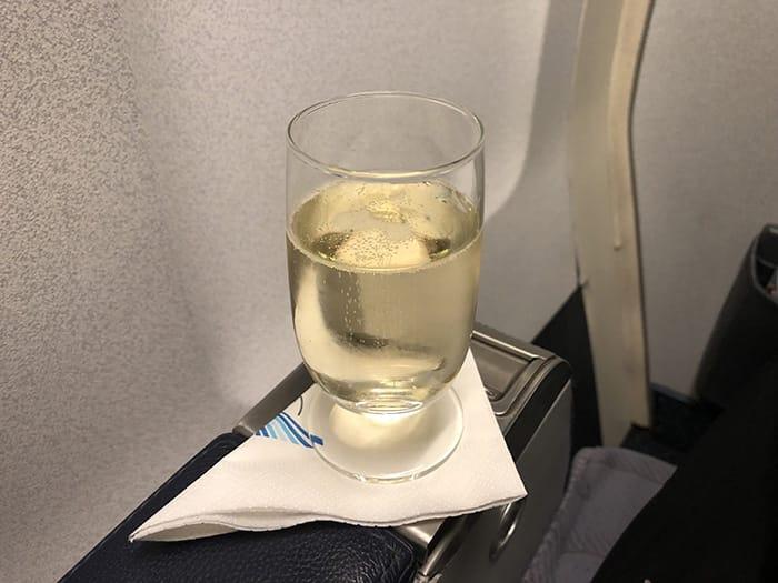 EL決勝 v チェルシー アゼルバイジャン航空 機内食