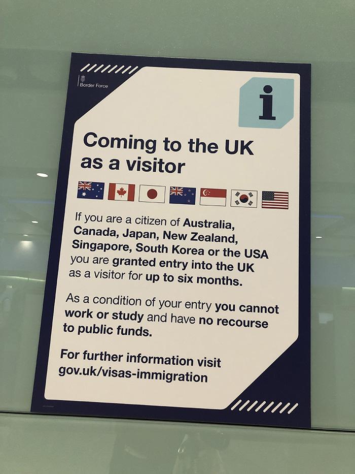 ヒースロー空港 イミグレーション パスポートチェック