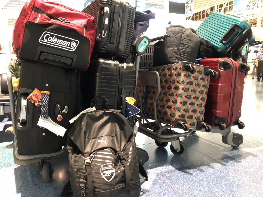 一時帰国 羽田空港 飛行機 スーツケース 荷物